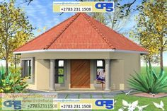 ZZZZ FREE VIEW IMPRESSIONS RONDERVALS/ FARM HOUSES Round House Plans, Dream House Plans, Modern House Plans, House Floor Plans, Hut House, Dome House, 1 Bedroom House Plans, Morden House, Single Storey House Plans