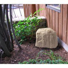 Fake Landscape Rock Artifical Stone Cover Boulder Yard Outdoor Garden Decor New #Emsco