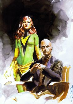 Phoenix & Professor X by Gerald Parel