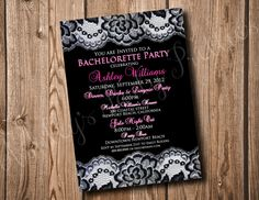 Bachelorette Party Invitation by AshleysPartyPretties on Etsy