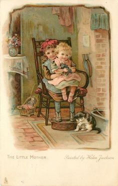■ Tuck DB... the little mother | (c. 1905) artist: Helen Jackson