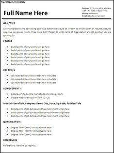 Cv Template Examples 2 Cv Template Sample Resume Resume Cv