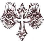 Cross with wings tattoo Cross With Wings Tattoo, Small Cross Tattoos, Cross Tattoos For Women, Tattoo Wings, Lion Tattoo, Future Tattoos, Love Tattoos, Body Art Tattoos, New Tattoos