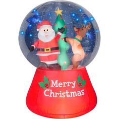 55 airblown inflatable snow globe scene with glimmer led christmas inflatable - Christmas Inflatables At Walmart