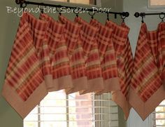 3 Easy-To-Make Handkerchief Style Valances | Beyond the Screen Door