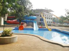 United 21 Retreat Resort Water Park Slides in Lonavala.