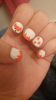 Fox nail design