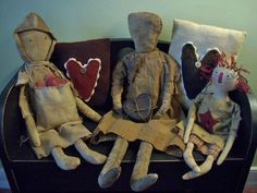 ~Winter Willow Primitives ~ Under The Willow~ Primitive Dolls...