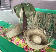 Tropical decor and accent cloth on the buffet. Picnic Time Productions owns oodles of decor and accent fabric. Paper Table, Picnic Time, China Plates, Tropical Decor, Table Covers, Buffet, Mason Jars, Recycling, Fabric