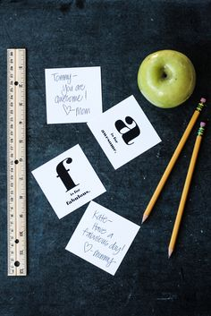 Back To School Alphabet Lunch Box Notes Printables