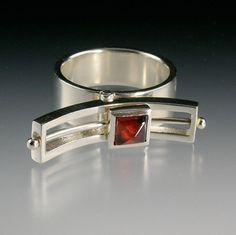 Mod Rocker Ring parallel by daniellejewelry on Etsy