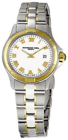 Raymond Weil Women's 9460-SG-00308 Parsifal White Dial Watch Love this watch. Wear it every day every where!