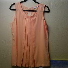 Peach tank top blouse New York & company peach tank.Top. great with  pair of slacks New York & Company Tops Tank Tops