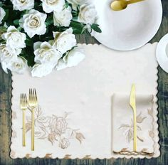 Luxurious embroidered Contento place mats & napkins are chosen to add refined elegance to your table. 100% linen woven in Italy.Designed & embroidered by Ponti Home.  1 set includes: 1 Place mat and 1 Napkin. Minimum order 2 sets.. Color:Light Beige Placemat size = 38 x 50 cm. Napkin: size = 40 x 40 cm. . . #lagoonamall #dubaimall #style #fashionista #golddress #luxurybedding #abudhabifashion #home #arabfashionweek #ABCVERDUN #centriamall #qatarluxury #Montreal #Toronto #Ontario #Vancouver… Bath Table, Arab Fashion, 1 Place, Place Mats, Light Beige, Table Linens, Luxury Bedding, Luxury Homes, Table Decorations