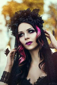 Milena Grbovic Goth pink and black hair