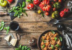 Italian pasta with tomato sauce. Food & Drink Photos