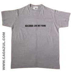 404 ERROR : LOVE NOT FOUND - cão azul t-shirt