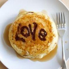Nutella Love Letter Pancakes