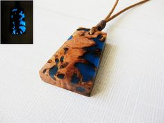 Shining in the dark necklace. Exotic burl by NikibarsNatureArt