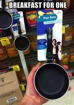 """Somewhere the geek who did this is laughing to himself at a  dinner and under his breath saying """"pan solo..."""""""