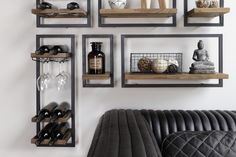 It's in the details! Each piece of the wine rack is a composition of premium reclaimed teak wood and black iron frame.