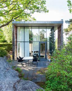 arkitekttegnet hus glasfacade