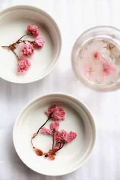 """Although I didn't particularly like the salted cherry blossoms, I did like how they ""bloom"" in warm water - and even more so when microwaved."""