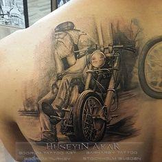 harley davidson tattoo motosiklet dovmesi black and gray tattoo ... #harleydavidsonbobbersblack