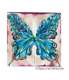 Enraptured Reflection Up To The Sky, Here On Earth, Word Out, Art Work, Reflection, Wings, Canvas Prints, Butterfly, Joy