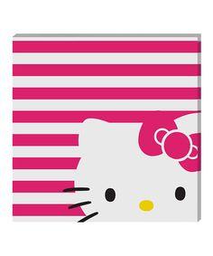 Loving this Hello Kitty Canvas Wall Art on #zulily! #zulilyfinds