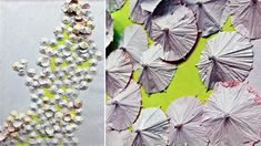 DIY Wall Art: Cocktail Umbrella Cascade