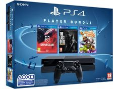 SONY PlayStation 4 500 GB gép + DriveClub, The Last of Us Remastered, Little Big Planet 3 játékszoftver