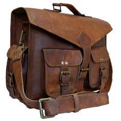 Men's New Vintage Brown Leather Messenger Bag Shoulder Briefcase Business Bag #Handmade #BriefcaseAttache #BagsBriefcases Messenger Bag, Satchel, Hacks, Laptop, Camera, Satchel Purse, Glitch, Cameras, Laptops
