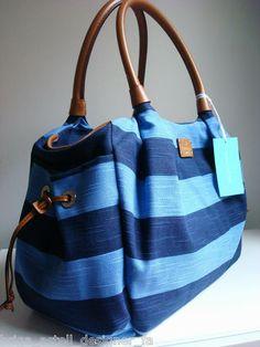 Kate Spade Jubilee Stripe Stevie Baby Diaper Bag Purse Blue | eBay