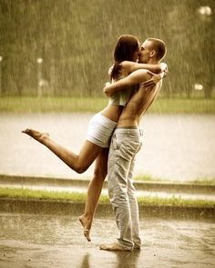 dancing in the rain with your best friend.. what a great picture!