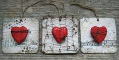 beer mats and love hearts.Calico Crafts Blog - Mel Hookham