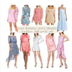 Summer wedding guest dresses roundup - currently on sale at Nordstrom for their half-yearly sale! Hello Fashion Blog, Yearly, Dresses For Sale, Summer Wedding, Nordstrom, Texture, Long Sleeve, Shopping, Surface Finish