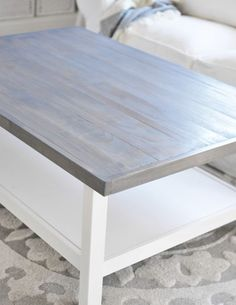 weathered gray stain top detail