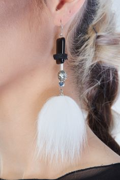 Givre $35 #earring #fur #recycledfur #jewelry #ecofriendly #fashion #canadianfashion