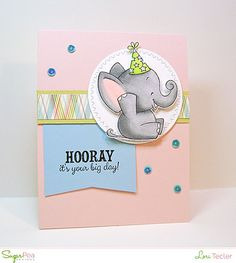 Hooray card-designed by Lori Tecler/Inking Aloud-stamps and dies from SugarPea Designs