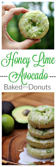 These Honey Lime Avocado Baked Donuts use avocados instead of oil for a delicious dessert that you don't want to miss!