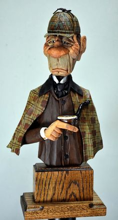 Sherlock Holmes Gets His Stripes  from Out West Woodcarving Videos  on Vimeo .     A few of you ask if I would show how I was going to pain...