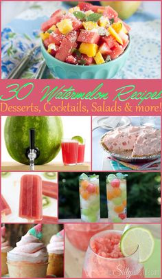 30 Watermelon Recipes {The Weekly Round UP} - This Silly Girl's Life