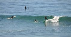 This popular surfing spot is located at 1700 Neptune Avenue in the Leucadia neighborhood of Encinitas, California.