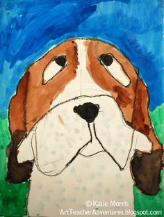 Adventures of an Art Teacher: 2nd grade Charlie the Ranch Dog Illustrations