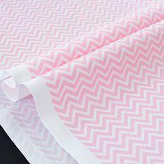 Tissu américain géométrique chevron zig zag rose blanc x 50cm : Tissus Habillement, Déco par alice-boulay