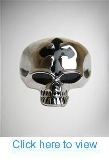 Silver Skull With Cross Ring #Silver #Skull #Cross #Ring
