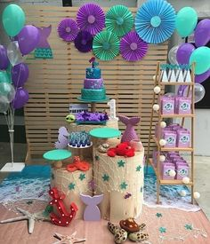 Specially Designed Baby Shower Themes for Unforgettable Moments 2019 – Page 10 of 30 baby shower ideas;baby shower ideas for boys; Mermaid Birthday Party Decorations Diy, Mermaid Theme Birthday, Little Mermaid Birthday, Little Mermaid Parties, Baby Shower Decorations For Boys, Boy Baby Shower Themes, Baby Birthday, Birthday Parties, Mermaid Baby Showers