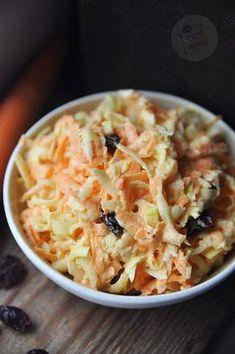 Kardamonowy: Surówka z selera, marchewki i pora Side Dish Recipes, Side Dishes, Polish Recipes, Polish Food, Coleslaw, Cauliflower, Macaroni And Cheese, Dips, Sweet Home