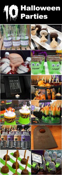 10+ Halloween Parties w/ easy ideas